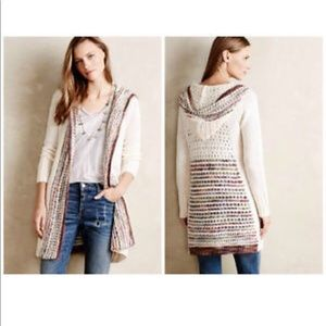 Anthropologie Angel of the North Hooded Cardigan